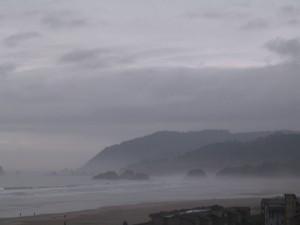 Misty Beach in Fog