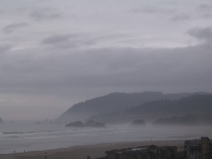 Misty Beach in Fog
